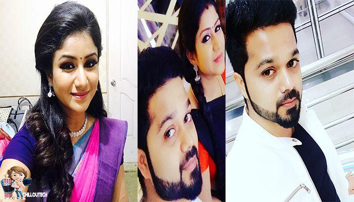 Karthik and Senba in Raja Rani serial Vijay TV