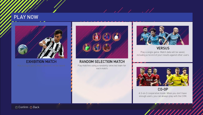 pes 2018 graphics menu fifa 18 style pes addict