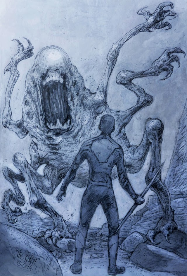 monster art, drawing, after earth, si-fi movie M.Night Shyamalan  monster alien beast