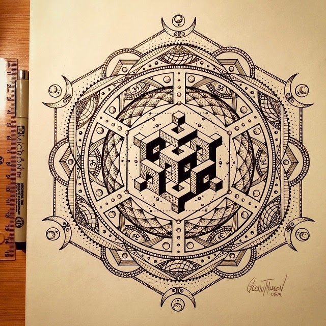 13-Eclipse-The-Sun-Glenn-Thomson-Black-and-White-Innovative-Mandala-Designs-www-designstack-co
