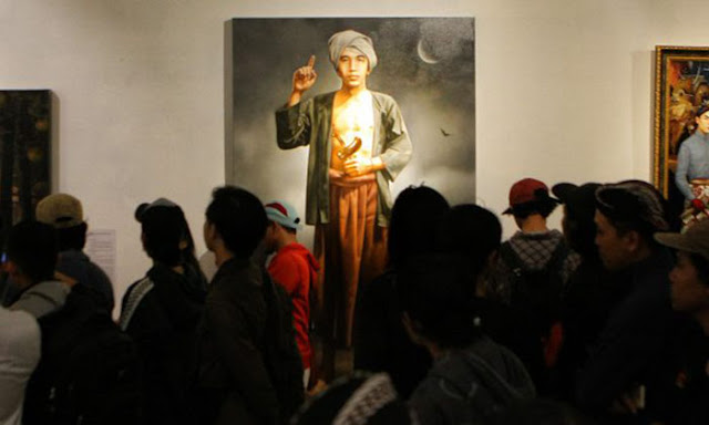 Wow! Lukisan Wajah Diponegoro Dibuat Mirip Jokowi