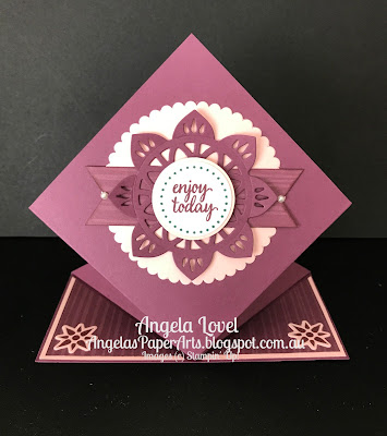 Stampin' Up! Eastern Beauty and Eastern Medallions card by Angela Lovel, Angela's PaperArts