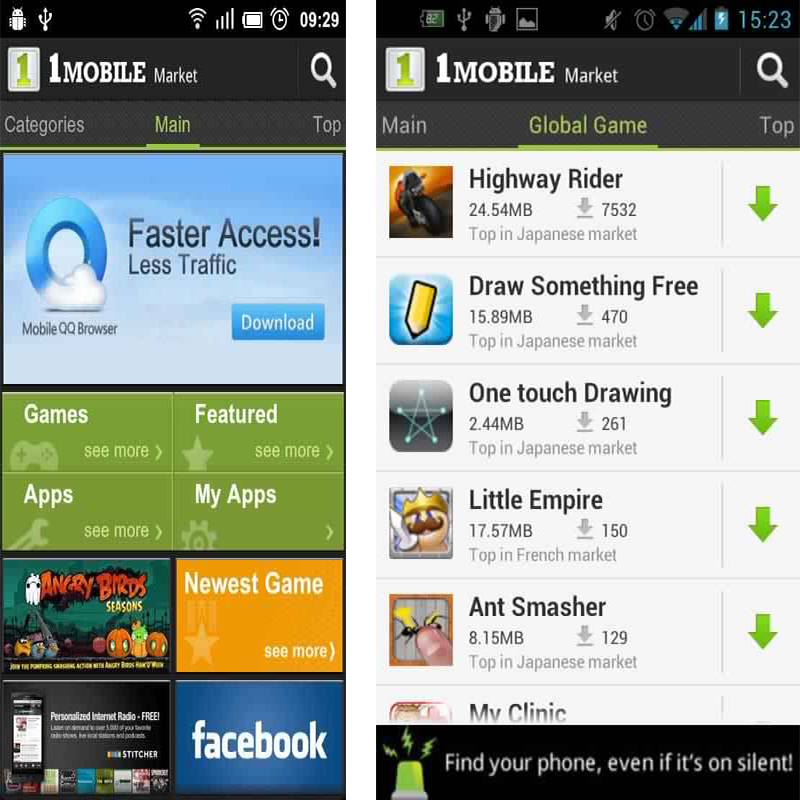 mobile app store for android