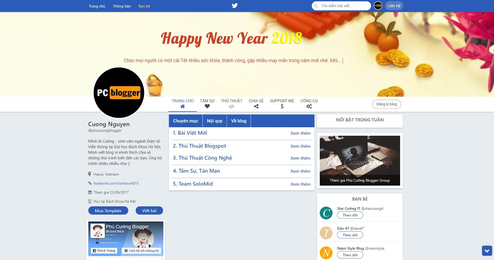 Share Template Twitter 4.5 Phú Cường Blogger