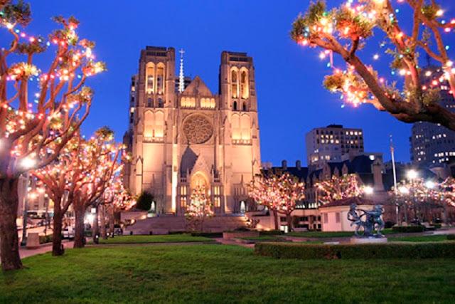 Tour pela Grace Cathedral no verão em San Francisco