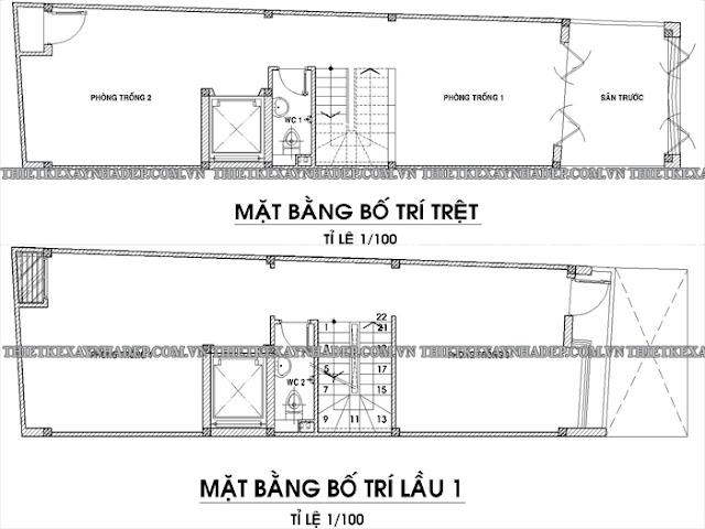 Mẫu thiết kế nhà ống 2 tầng 5x20 đẹp tại tỉnh Kiên Giang Tang-tret-tang-1