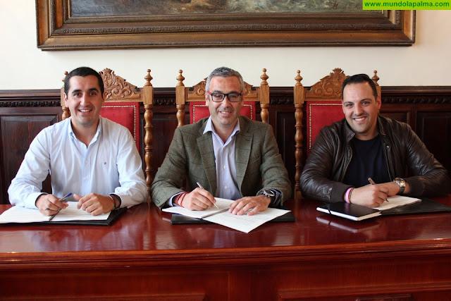Santa Cruz de La Palma, Breña Alta y Breña Baja formalizan el convenio para la Estrategia de Desarrollo Urbano Sostenible e Integrado