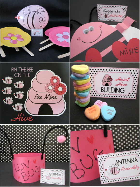 bee my valentine 39 s day classroom party party ideas