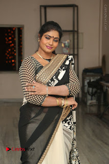 Telugu Actress Jayavani Jayavani Stills in Black Saree at Intlo Deyyam Nakem Bhayam Success Meet  0034.JPG