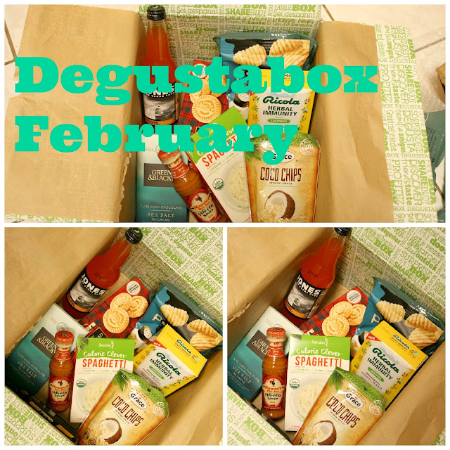 Degustabox full of foodie treats delivered to my home.