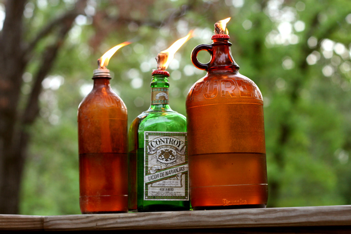 Been A Huge Fan Of Tiki Torches I Had Small Collection Old Bottles That Didn T Serve Functional Purpose So Decided To Make My Own Texas Sized