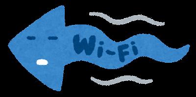 遅いWi-Fiのイラスト(左向き)