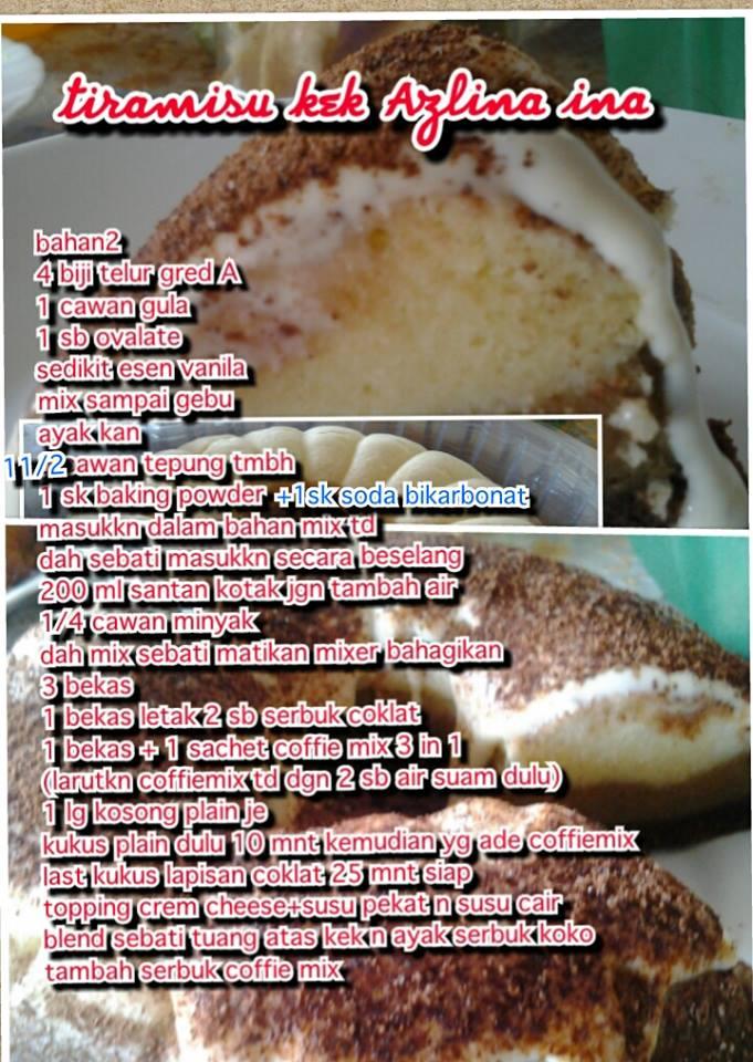 ~eRnIeY~: Resepi Kek By Azlina Ina