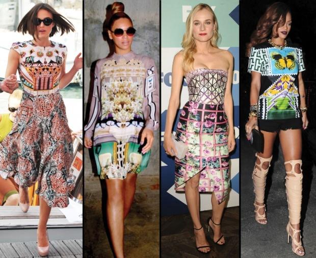Celebs wearing Mary Katrantzou_Keira_Beyonce_Diane_Kruger_Rihanna