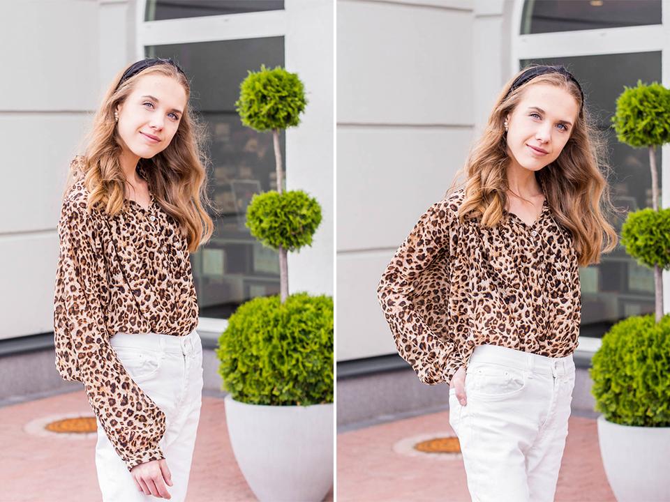 fashion-blogger-outfit-inspiration-white-denim-leopard-top-black-headbad-muotiblogi-asu-valkoiset-farkut-leopardi-paita-hiuspanta