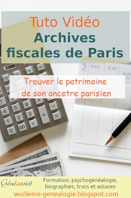 trouver le patrimoine de son ancêtre parisien avec les archives fiscales de Paris