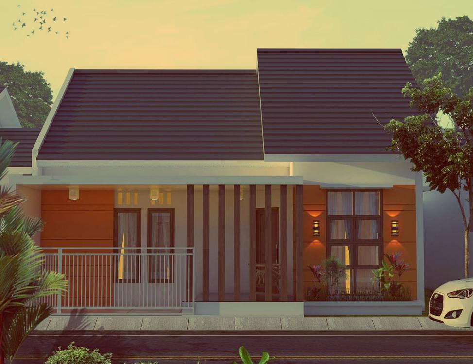 Rumah minimalis 1 lantai dengan atap landai