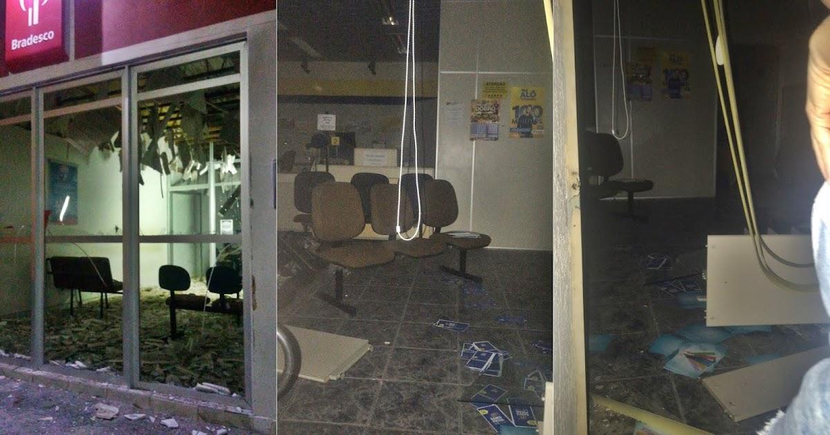 Resultado de imagem para Quadrilha explode caixas de banco e Correios no Oeste potiguar, e usa ambulância para deixar PMs trancados