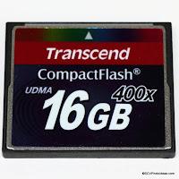 Transcend Compact Flash II PREMIUM UDMA 7 400x 16GB Ref