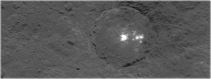 mistério das manchas brancas em Ceres