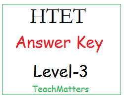 image: HTET Answer Key Level-3 @ TeachMatters