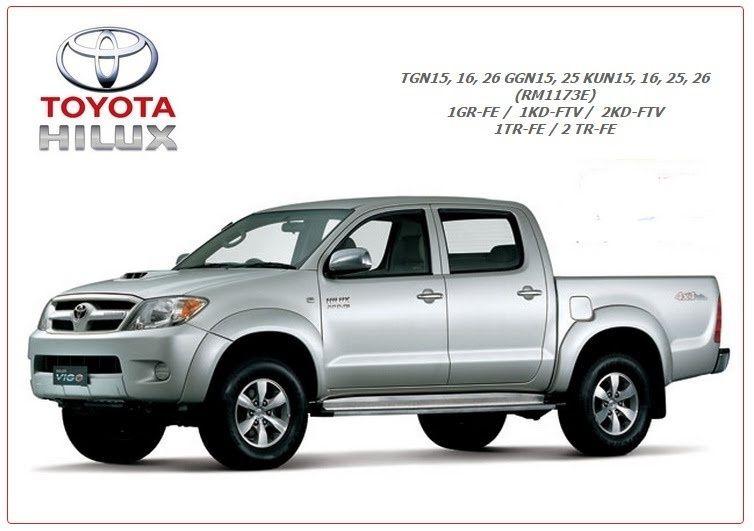 Toyota Hilux Vigo Kun15  16  25  26 Wiring Diagram