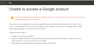 unable to acces google product