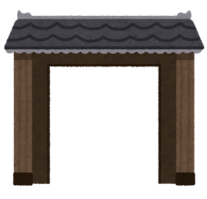 門のイラスト(開)