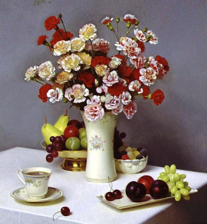 Stephen Gjertson. Цветочные натюрморты 15