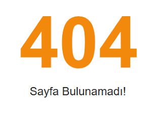 Blogger 404 Sayfa Bulunamadı (Page Not Found) Sayfası