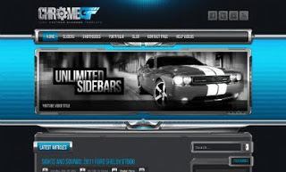 Chrome Gt Blogger Template