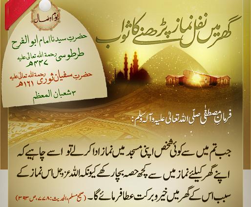 ghar may nafil Namaz parhnay ka sawab