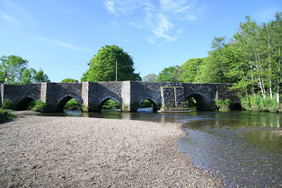 Lostwithiel's famous bridge over the river Fowey