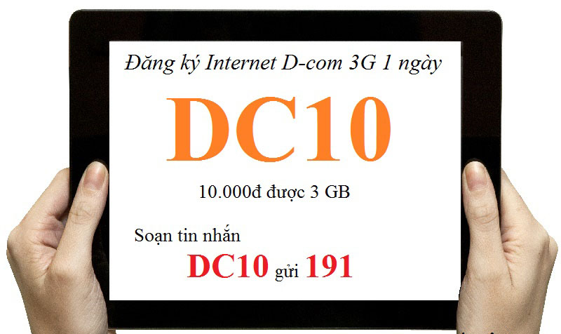 Thử đăng ký 3G Viettel 10k 1 ngày nào các bạn