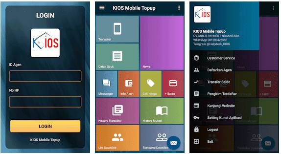 Aplikasi Kios Pulsa, Kios Mobile Topup