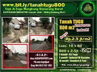 Cari tanah dijual? jual tanah di JL TUGU MANGKANG SEMARANG BARAT 800 m2. bit.ly/tanahtugu800 Tanah luas cocok untuk bangunan RUKO, GUDANG DLL.