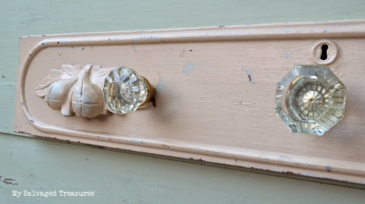 repurposed vintage crystal door knobs