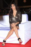 Pooja Hegde looks glamarous in deep neck sleevless short tight golden gown at Duvvada Jagannadham thank you meet function 093.JPG