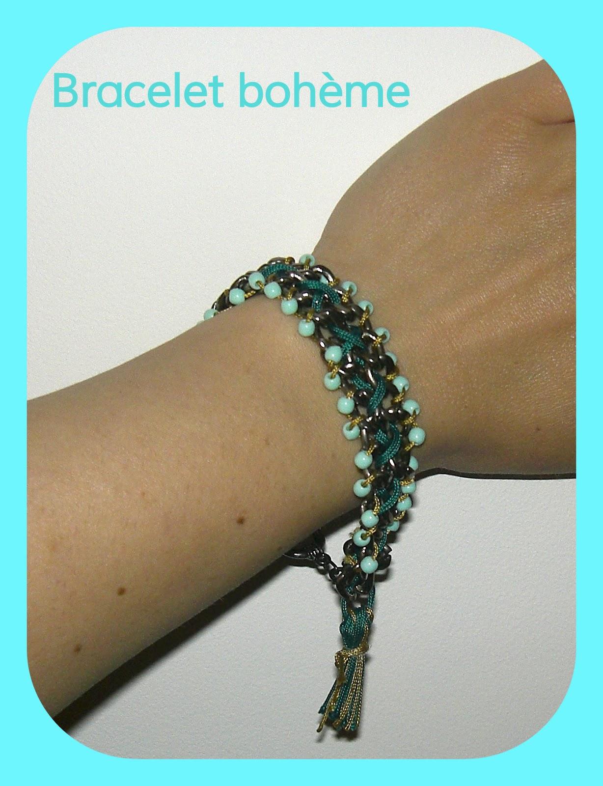 gabulle in wonderland bracelet boh me cha nes perles et pompon. Black Bedroom Furniture Sets. Home Design Ideas