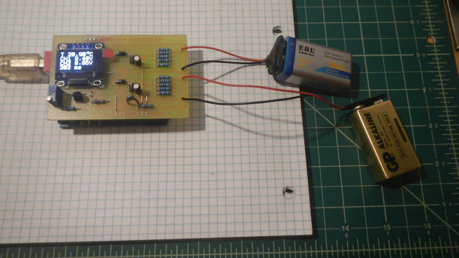 Elvis DIY Electronics Projects: Arduino, two channel voltmeter with