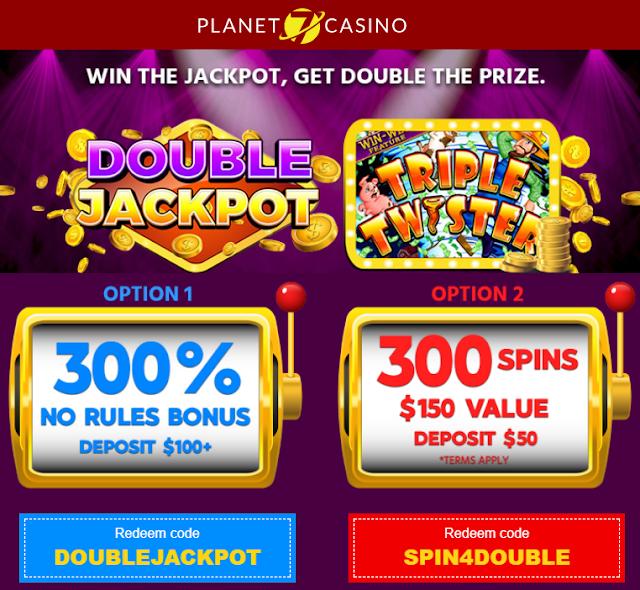 Jackpot Multiplier Bonus: 300% Bonus or 300 Free Spins | Planet7 Casino