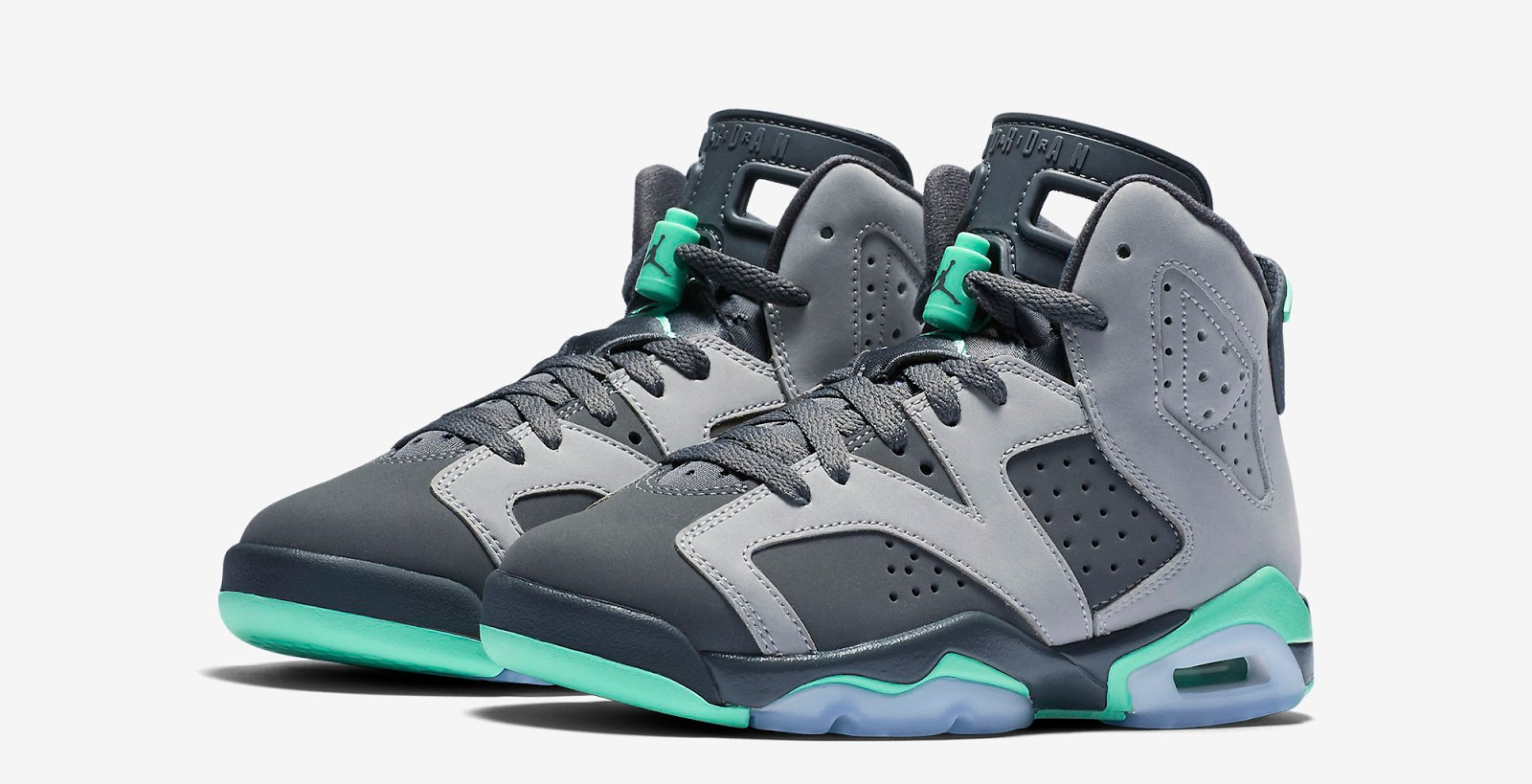 on sale 11aeb 3d89a ajordanxi Your  1 Source For Sneaker Release Dates  Girls Air Jordan 6 Retro  GG Cement Grey Green Glow-Dark Grey-Green Glow Release Reminder