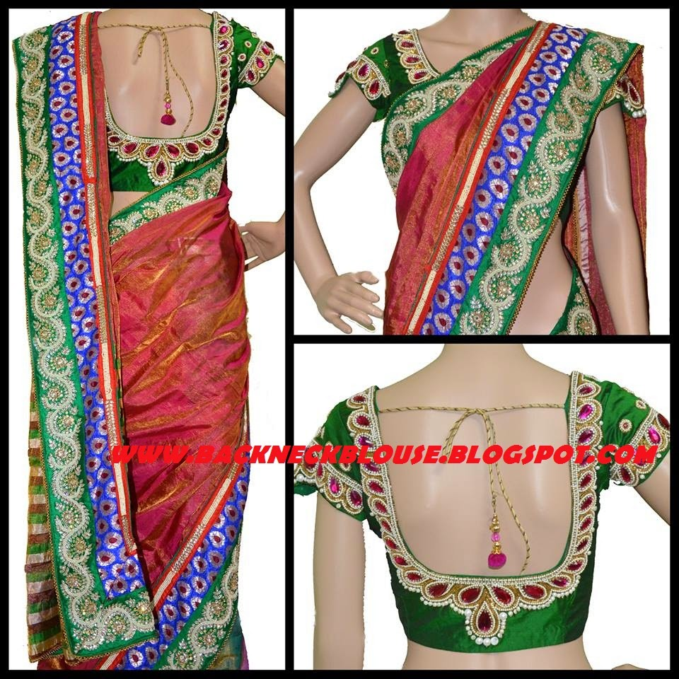 Designer Catalog: BACK NECK BLOUSE READY MADE AND CUSTOMIZED DESIGNER BLOUSE