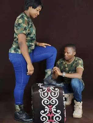 Pre-Wedding Photos Of Two Nigerian Soldiers
