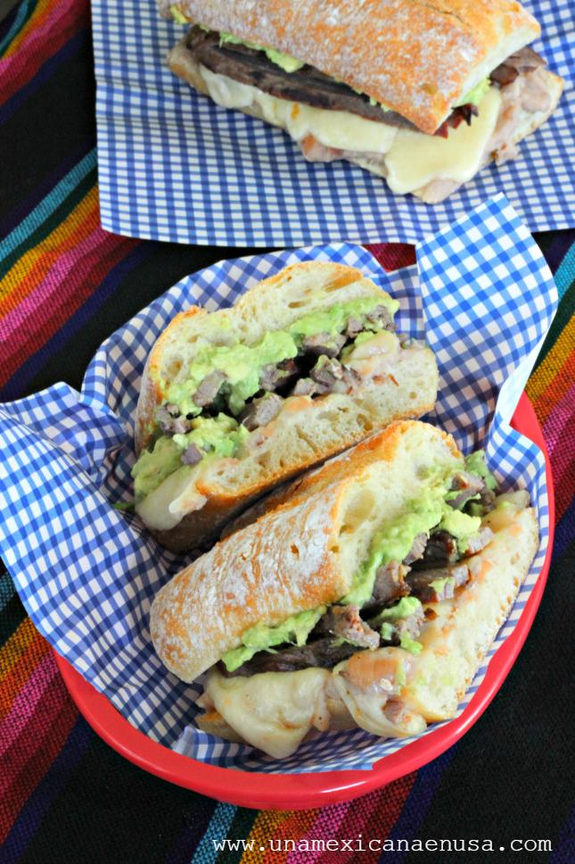 Pepitos - Sándwich Mexicano de carne asada y aguacate