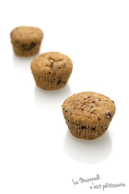 Muffins au chocolat et à la noisette