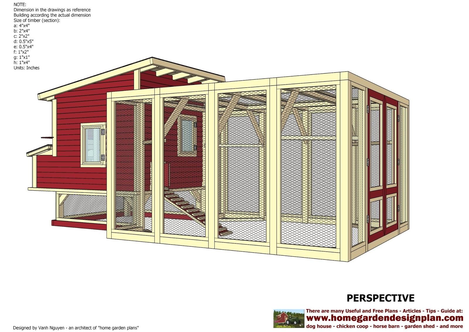 home garden plans L100 Chicken Coop Plans Construction Chicken – The Garden Coop Plans Pdf