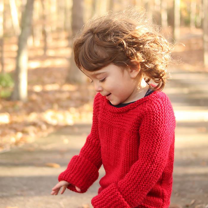 Easy Toddler Sweater Free Knitting Pattern
