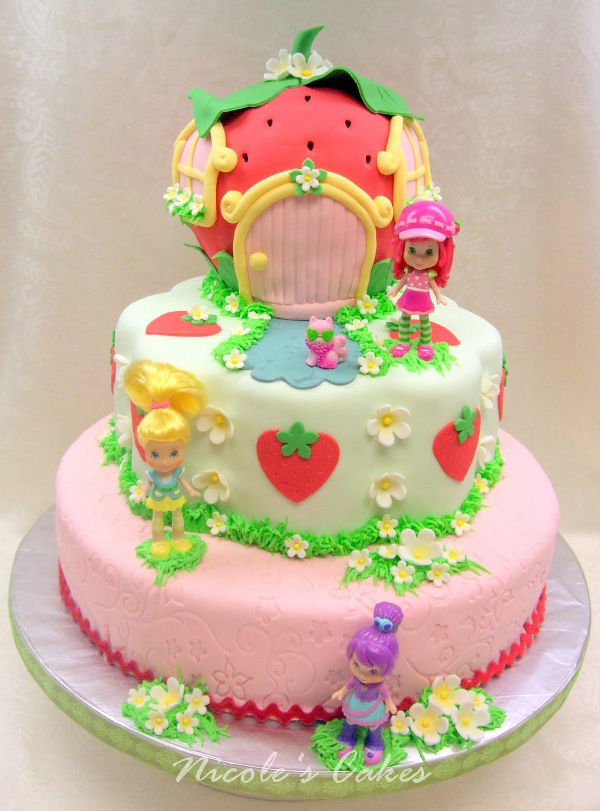 Strawberry Shortcake Cake Birthday Party