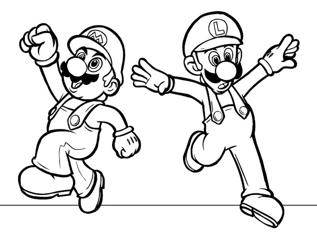 Coloring Sheets Printable  Free Printable Coloring Pages Of Mario  Characters Pictures